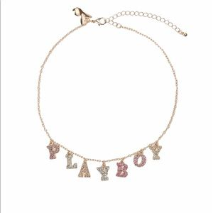 Playboy Gold Look Multi Drop Necklace